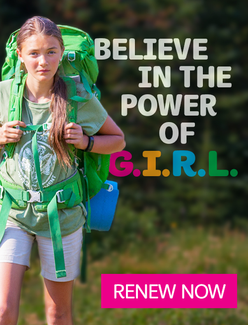 Believe in the Power of G.I.R.L. Renew now.